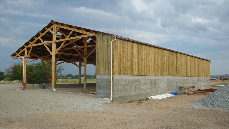 construction d 39 un b timent agricole amc charpente