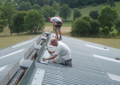 AMC Charpente Loire bâtiment agricole installation toit