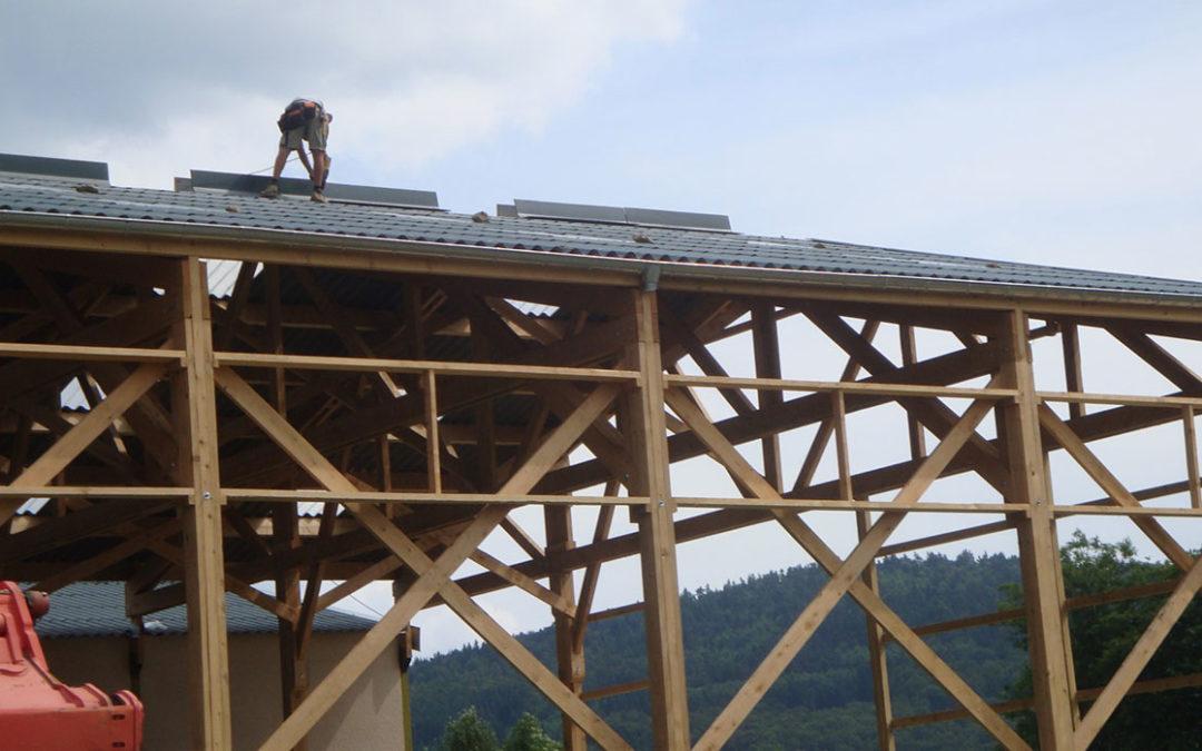 Etapes chantier bâtiment agricole