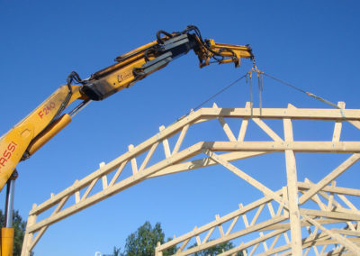 Installation grandes structures bois