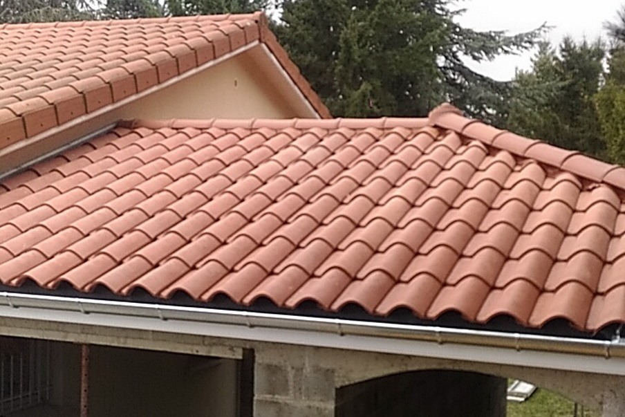 Extension garage avec toiture
