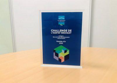 médaille d'or du challenge de l'habitat innovant 2020 pour SCF